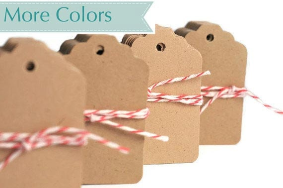 READY TO SHIP | Kraft blank brown paper mini tags. Kraft gift tags. Small gift tag die cuts eco friendly natural paper