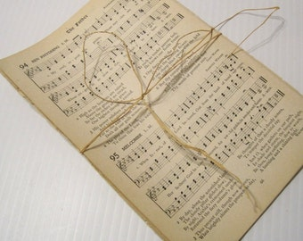 Antique/Vintage Hymnal Pages / Hymnal sheet music bundle / old hymns for paper crafts. Select 25 or 50 sheets
