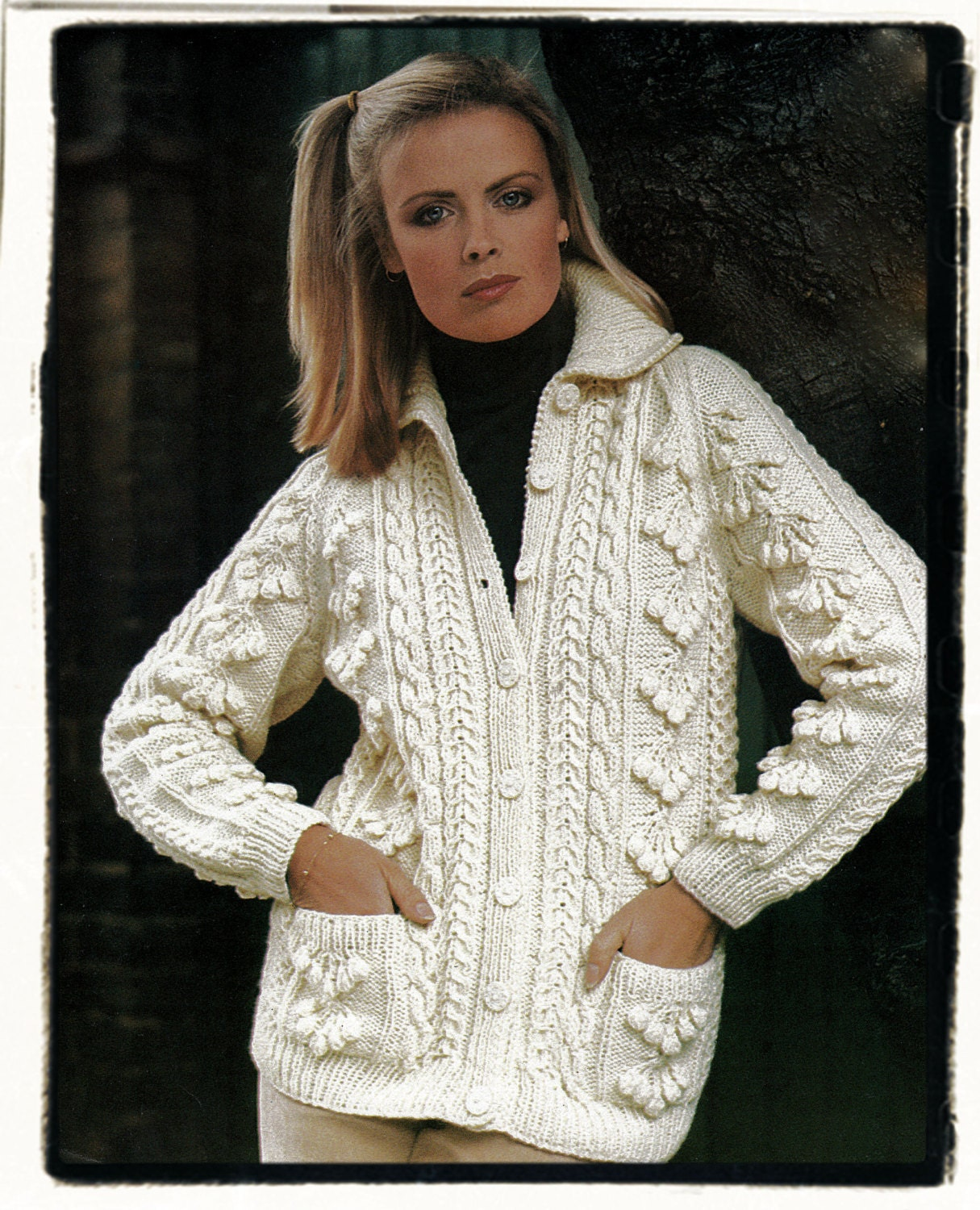 Instant download pdf knitting pattern to make a womens aran jacket this is a digital file bankloansurffo Gallery