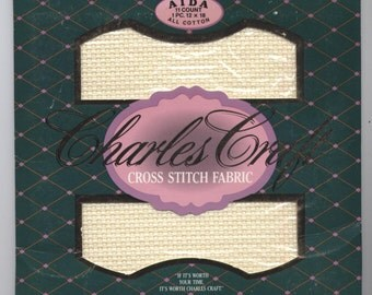 """AIDA 11-COUNT IVORY 12"""" X 18"""" Even-Weave Counted Cross-Stitch Fabric"""