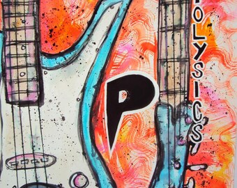 POLYSICS Yamaha SBV Fumi Bass Inspired Watercolor & Acrylic Stylized Painting