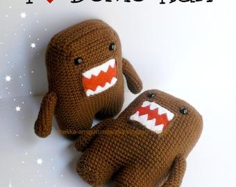 Domo-kun Plushie, Amigurumi  crochet domokun, doll, soft toy