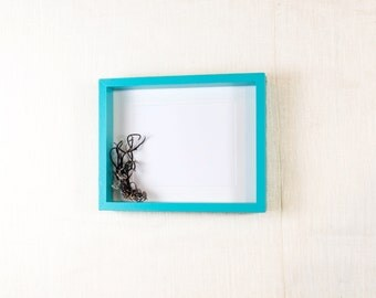 Deep Picture  Frame 11x14 - Aqua Blue, Turquoise - Deep Frame, Open Box Frame