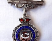 Sterling silver, hallmarked, 1930s Buffaloes medal, RAOB, from Cornwall, England, Sir Lionel Jacobs Lodge