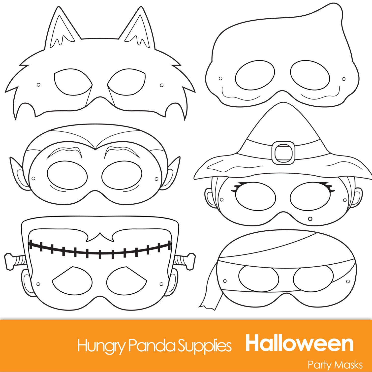 halloween face mask templates - halloween masks printable halloween costume halloween