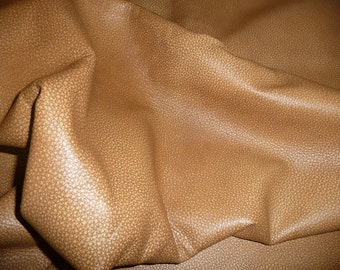 "Leather 12""x12"" BOMBER KING Caramel Camel Tan  Marbled SOFT Cowhide 3-3.25oz / 1.2-1.3mm PeggySueAlso™ E2882-01"