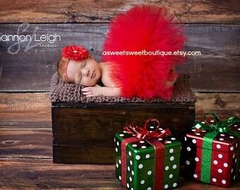 Baby Christmas Tutu Red Tutu Red Tutu With Flower Headband Baby Tutu Red Baby Tutu Red Newborn Tutu Baby Christmas Tutu Valentine's Day Tutu