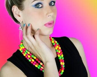 Candy Pearl Neon Swarovski Bracelet (c) by Sara Gallo