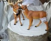 Buck and doe wedding cake topper-Deer hunting wedding cake topper-hunting-country western-deer-wedding cake topper