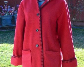 red jacket size med