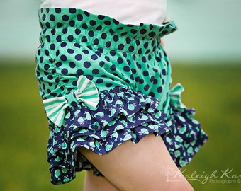 Raelyn's Triple Ruffle Bow Shorts PDF Pattern Sizes 6/12m to 8 girls