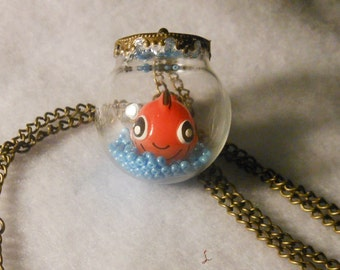 Fish Aquarium Terrarium Necklace