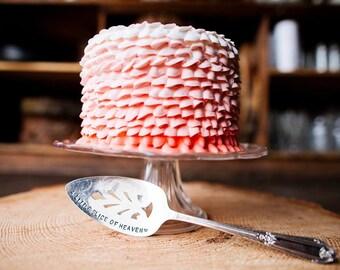 A Little Slice of Heaven -  Cake Server - Hand Stamped - Cake, Pie, pie server, gift for hostess, holiday gift, kitchen decor, baker