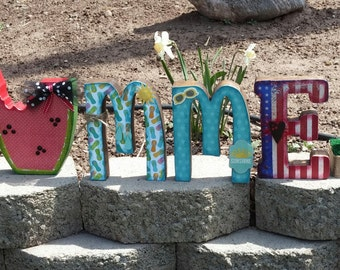 Wooden summer letters