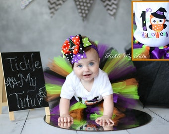 My First Halloween Tutu Outfit-Halloween Tutu Outfit-Halloween Pageant Outfit-Baby's First Halloween Costume *Bow NOT Included*