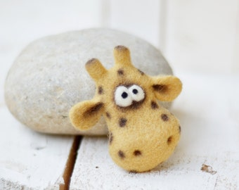 Brooch - Brooches - Jewelry - Needle felted brooch - Animals brooch - Felt brooch - Pin - Felted animals - Girls accessories - gift for her