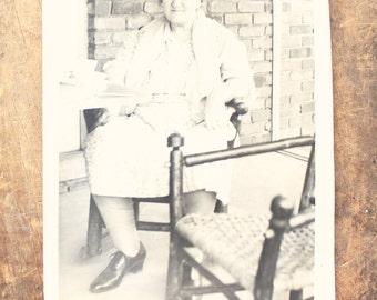 "Vintage Photo ""Tea Time"", Photography, Paper Ephemera, Snapshot, Old Photo, Collectibles 1383 E"