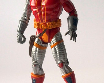 1992 Deathlok Action Figure, Vintage, Marvel Comics, Demolisher, Xmen