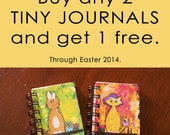 Tiny Journals sale,SALE. Buy 2 get 1 free, many cute and colorful designs to choose from