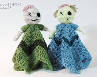 Zombie Lovey CROCHET PATTERN instant download - blankey, blankie, security blanket