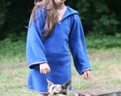 Legend of zelda inspired cosplay Royal Blue Elven tunic - Medieval tunic - hyrule - Pixie hoodie - Halloween- festival tunic - pointy hood