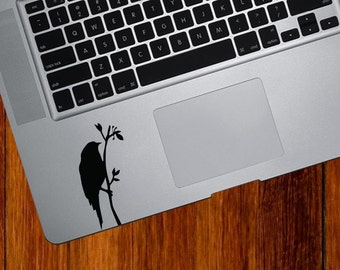 TP - Bird on Branch on Branch - Design 2 - Trackpad / Keyboard - Vinyl Decal - Copyright © (Color Variations Available)