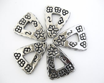 Silver Pendants - set of five