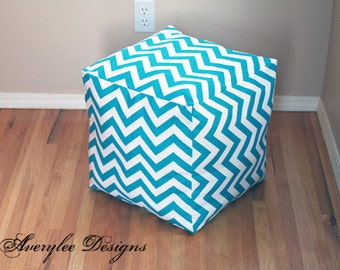 Premier Prints Chevron Pouf Ottoman cover, Chevron floor pouf, Childrens pouf, Chevron Floor Cushion, pouffe, nursery pouf, *Cover Only*