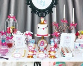 ALICE in Wonderland Party Printable Set - Invitation, Cupcake Toppers, Banner, Photo Booth Props & more