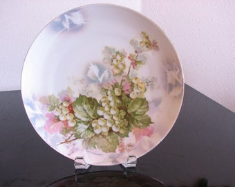 Decorative Plate with Grape Design Germany