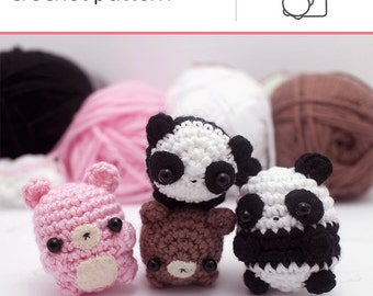 Panda Amigurumi Kawaii : Panda bear pattern Etsy