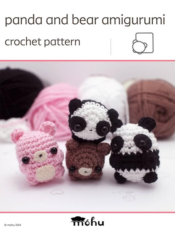 crochet panda pattern kawaii amigurumi pattern