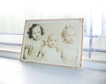 Vintage Photograph 3 Sisters 1950s