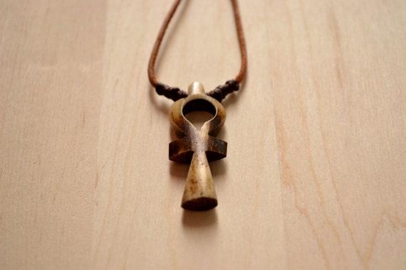 Egyptian Jewelry, Ankh Necklace, Egyptian Necklace, Eternity Cross Necklace, Unisex Leather Necklace, Pharaoh