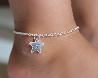 Personalized Anklet Star Charm, Child Toddler Little Girl's Anklet, Birthday Gift, Girls Gift, Gymnastics, Dance, Sports FREE Gift Packaging