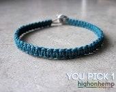 Minimalist Bracelet, Macrame Bracelet, Hemp Bracelet, Custom Bracelet - You Choose the Color