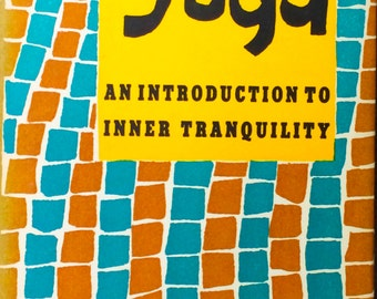 Vintage Peter Pauper Press Small Hardcover 'Yoga: An Introduction to Inner Tranquility' by Frank J. MacHovec, Illus. by Marian Morton