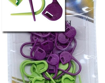 Locking Stitch Markers (Pack of 30 stitch markers) by Knitter's Pride Accessories