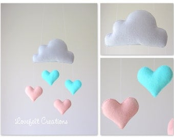 Baby mobile - heart mobile - Cloud Mobile - Baby Mobile Cloud Stars