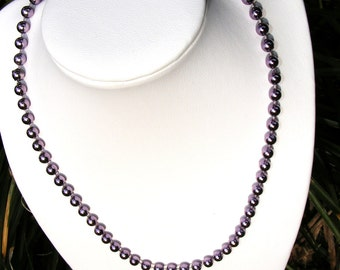 Metallic Lilac Fashion Strand Necklace