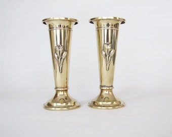 Pair of Art Deco Brass Vases ON SALE Final Price