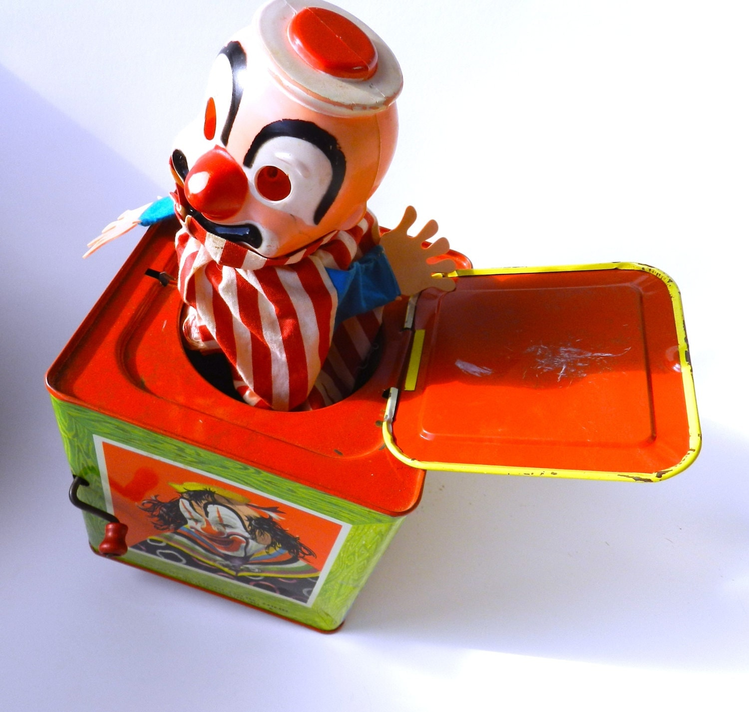 Vintage Clown // Clown Jack in the Box // Scary by TheRosesThorn