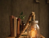 Mason Jar Light Rope Lamp Table Lamp Desk Lamp Edison Lamp
