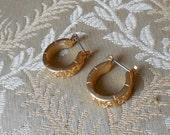 Napier vintage gold hoop earrings.