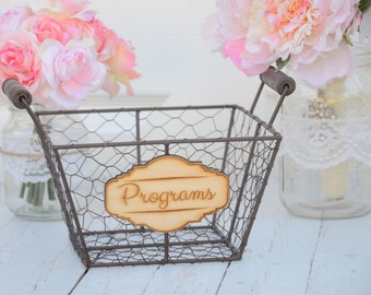 Wedding programs basket - wedding decorations