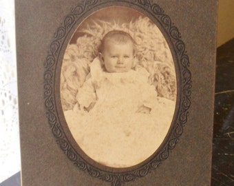 Antique Sepia Baby Picture, Cabinet Card Photo, Baby Cabinet Picture