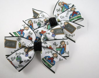 Back to School Hair Bow Set - Pigtail Hair Bow Set - Pigtail Hair Bows - School Hair Bows - School - Hair Bows - Hair Bow Set - Pigtails