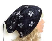 velvet and Fleece fabric hat-hat,Winter hat -snowflake pattern -Winter Women-outer face pile fabric,Fleece fabric inner face.