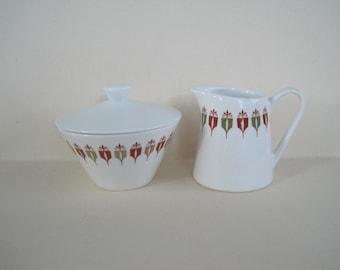 Vintage Syralite Cream and Sugar Set made by Syracuse China