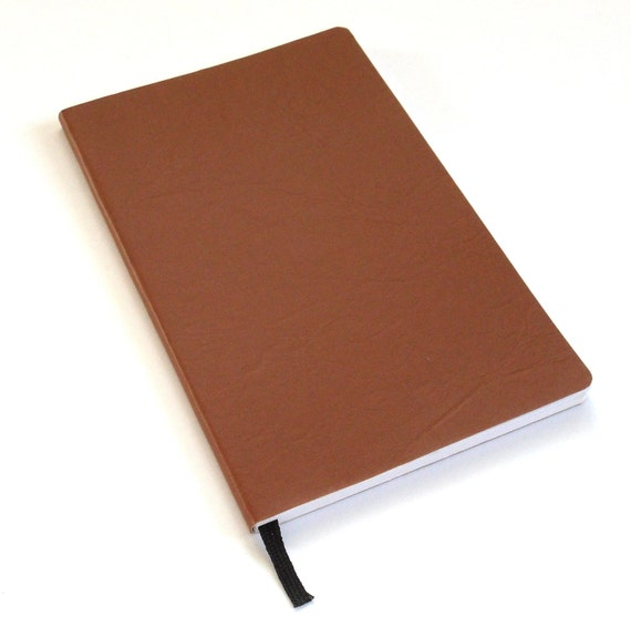 Tan Faux Leather Journal, Half Page